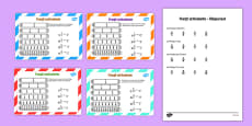 Fracții echivalente - Cartonașe