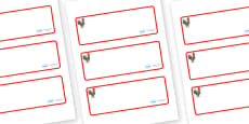 Rooster Themed Editable Drawer-Peg-Name Labels (Blank)
