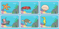 Under the Sea Class Group Signs Editable