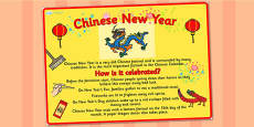 A2 Chinese New Year Large Information Display Poster - Australia