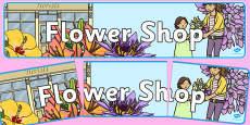Flower Shop Display Banner