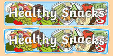 Healthy Snacks Display Banner