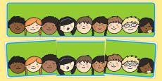 Editable Banner Childrens Faces