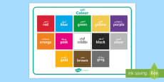 Colour Word Mat Arabic/English