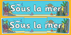 Under the Sea Display Banner French