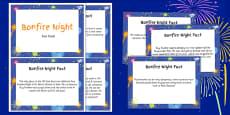 Bonfire Night and Gunpowder Plot Display Fact Cards