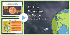 Earth's Movement: Rotation vs Revolution PowerPoint