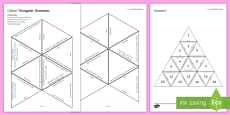 Colour Tarsia Triangular Dominoes
