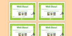 Gardening Club Certificates