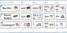 Elephant Themed Editable Additional Classroom Resource Labels