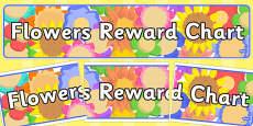 Flowers Reward Chart Display Banner