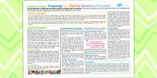 Preparing Your Child For Nursery Or Preschool - A Guide For Parents Leaflet