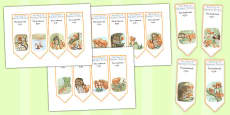 The Tale of Squirrel Nutkin Editable Bookmarks (Beatrix Potter)