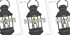 Months of the Year on Lamps