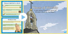 KS2 Places of Worship Christian Churches PowerPoint