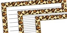 Leopard Pattern Landscape Page Border