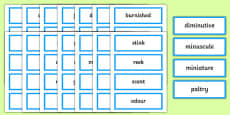 Synonyms Card Sorting Game