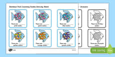 Scales Counting Activity Sheet to Support Teaching on The Rainbow Fish