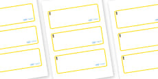 Pineapple Themed Editable Drawer-Peg-Name Labels (Blank)