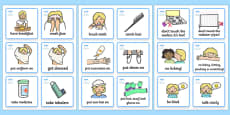 SEN Communication Cards Daily Routine (Girl)