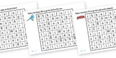 Letter Maze Activity Sheet