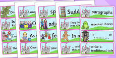 Traditional Tales Display Word Cards