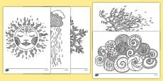 Coloriages anti-stress : La météo