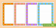 Mixed Colors Star Page Border Pack