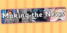 Making the News IPC Photo Display Banner
