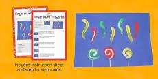 Finger Paint Fireworks Craft Instructions