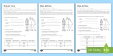 Father's Day Reading Comprehension Activity 1 Spanish
