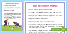 Safe Tackling in Hockey Guide