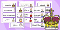 Royal Family Topic Cards Polish
