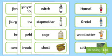 Hansel and Gretel Word Cards
