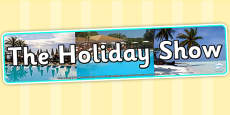 The Holiday Show Photo Display Banner