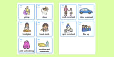 Visual Timetable (Getting Ready For School - Girls)