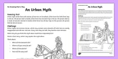 An Urban Myth Activity Sheet