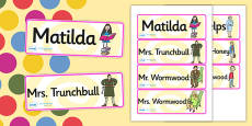 Word Cards to Support Teaching on Matilda