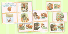 The Tale of Squirrel Nutkin Story Sequencing Cards (Beatrix Potter)