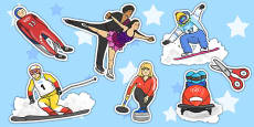 Winter Olympics Stick Puppets