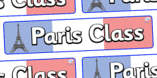 Paris Themed Classroom Display Banner