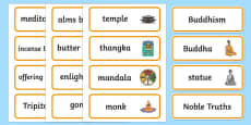 Buddhism Word Cards