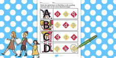 The Pied Piper Themed Capital Letter Matching Activity Sheet