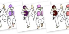 Numbers 0-31 on Karate
