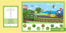 Transport Can you Find...? Poster and Prompt Card Pack