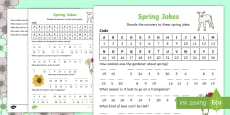 Spring Joke Decoding Activity Sheet