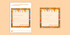Spanish Create Your Birthday Party Invitation