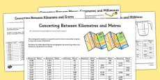 Converting Between Units of Metric Measures Activity Sheet Pack