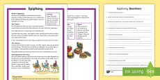 KS1 Epiphany Differentiated Reading Comprehension Activity