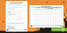 Halloween Maths Assessment Pack